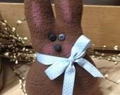 Handmade Stuffed Chocolate Brown Bunny Rabbit