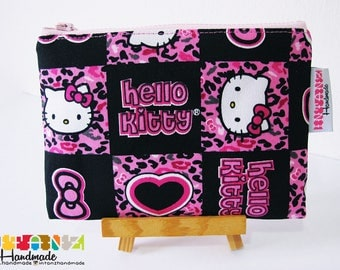 Black Pink Hello Kitty Zipper Pouch