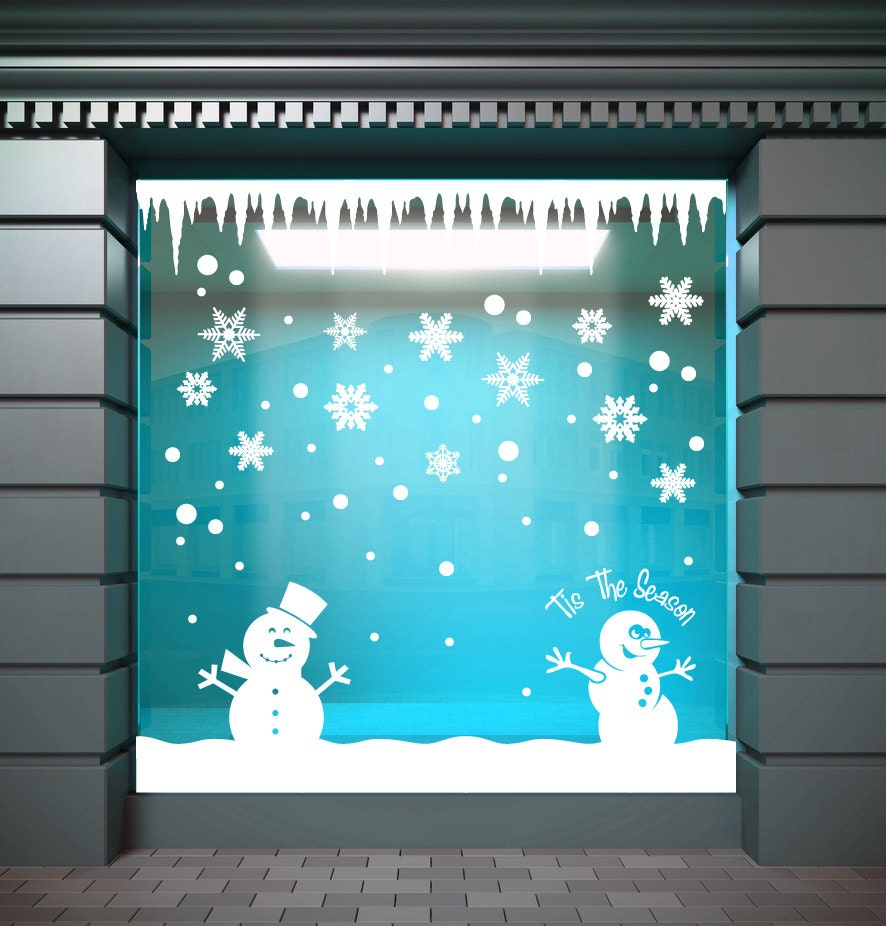 Christmas decorations window wall stickers icicles for Sticker fenetre noel