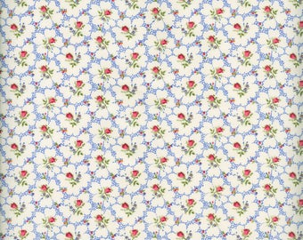 Fabric Freedom 'Reduced Price' F899-2 English Teatime Rosebud Patchwork Quilting