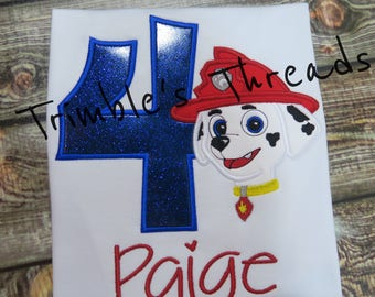 Paw Patrol Birthday Shirt / Personalized / Boy / Girl