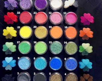 Pearlescent Mica Pigment Powder Rainbow Set 23 x 1.5gr | UV resin | nail art | nail gel | nail acrylic
