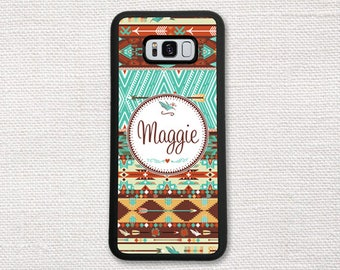Aztec Case For Samsung Galaxy S8, S7, S6, S5, S4, Hipster Aztec Tribal Personalized, Monogrammed Monogram 1055