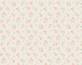 Ava Rose - Flower Cream by Deena Rutter for Riley Blake Designs, 1/2 yard, C5873-Cream