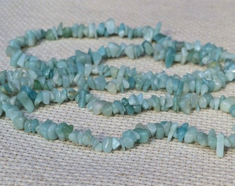 Aquamarine Chips Beads. Gemstones Chips.