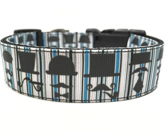 Mustache Dog Collar Adjustable