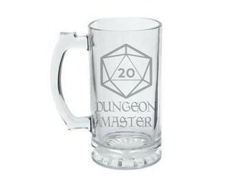 Dungeon Master - Gamer Gift - Tabletop Gaming Gift - Game Master GM Gift- Dungeon Master DM Gift - D20 20 Sided Dice