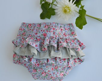 babies and toddlers frilly bloomers - floral ruffle bloomers