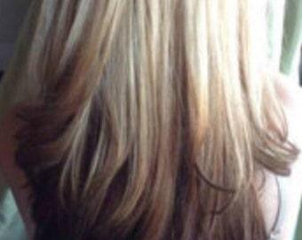 Dip Dyed Hair Etsy