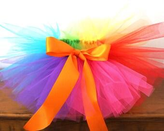 Rainbow Tutu - Baby Tutu - Clown Tutu -