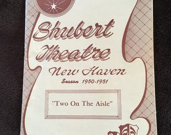 """Shubert Theatre New Haven Playgoer """"Two On The Asile"""" Season 1950-1951"""