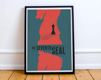 The  Seventh Seal, Ingmar Bergman, Movie Poster, Det sjunde inseglet, Max von Sydow, Swedish movie, cult, classic, film,