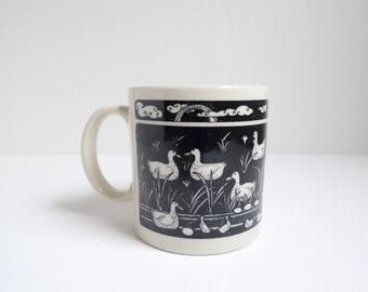 Vintage Ceramic Mug, Taylor Ng, Ducks Mug, 1970s, Retro Kitchen, Retro Mug, Coffee Cup, Coffee Mug, Taylor Ng Mug
