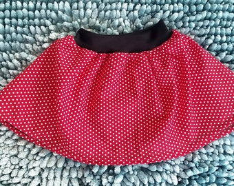 Minnie Mouse themed baby toddler girls twirl skirt, kids girls Minnie mouse skirt, Disneyland baby toddler kids skirt, Minnie mouse outfit