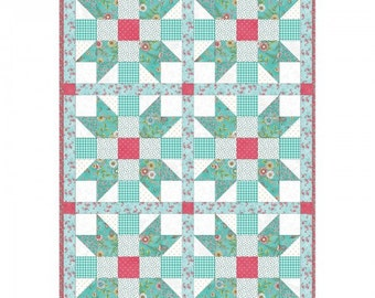 """Sisters Choice Roam Sweet Home Precut Quilt Kit by Maywood Studio, finished size 32"""" x 47"""""""
