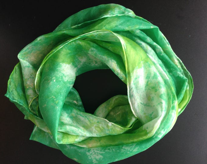 Featured listing image: Unique silk scarf 100%