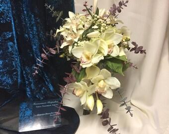 Ivory Cascading Bridal Bouquet