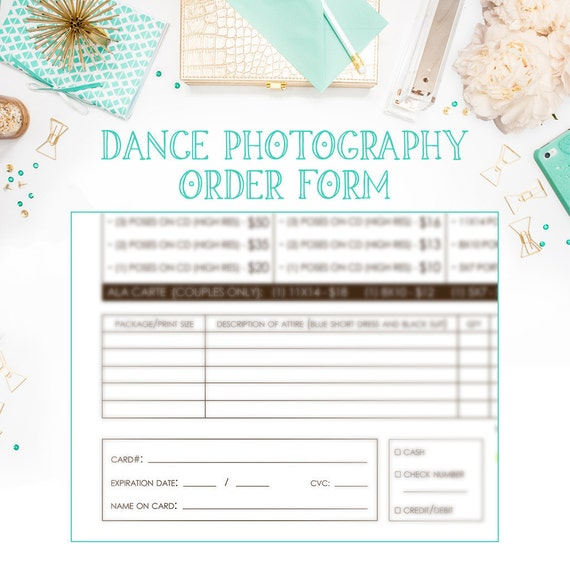 infinityimage - School Dance Or Dance Team Photography Order Form ...