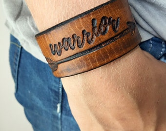 Warrior Bracelet - Leather Warrior-handmade leather cuff