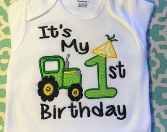It's My 1st, 2nd, 3rd or 4th Birthday Tractor.......Shirt/Onesie