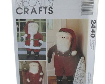 McCalls 2440 Santa Door Greeters with Movable Arms - Craft Pattern UNCUT