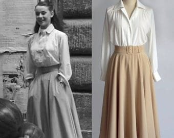 Vintage/ Audrey Hepburn/ Roman Holiday/ Skirt/ Circular Skirt/ 1950's/ Custom made skirt