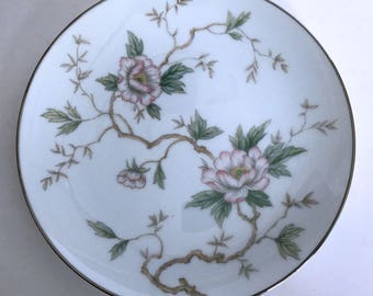 """Vintage Noritake Chatham 5502 Bread Plate Pink Flowers on Branches 6-3/8"""""""