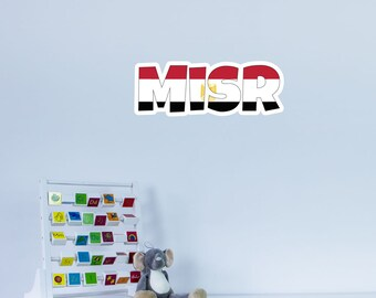 National Flag Country Name of Misr Vinyl Wall Art
