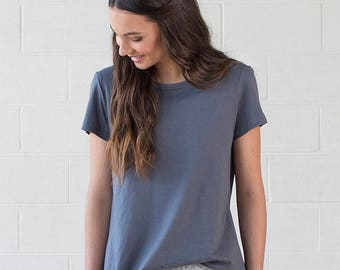 SALE! Organic Cotton Dark Grey Tshirt - Geranium Tee