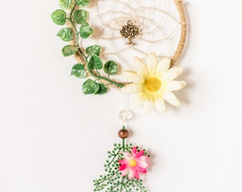 Tree of Life, Festival Dreamcatcher, hippie, Fairy Dreamcatcher, natural, floral dreamcatcher, wall hanging