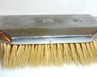 20217blk01A -- Vintage BRUSH Natural Bristle Horse Hair Brush Vanity