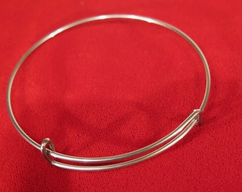 2pc 65mm stainless steel bangle bracelet (JC144)