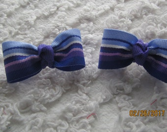 Dog Hair Bows Can Mix and match with any of my bows, Purple Stripped dog bows, bows