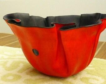 Leather Yarn Bowl