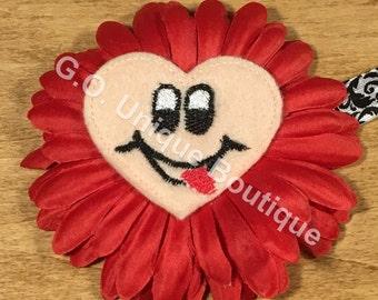 Emoji Child/Teen Shabby Flower Headband