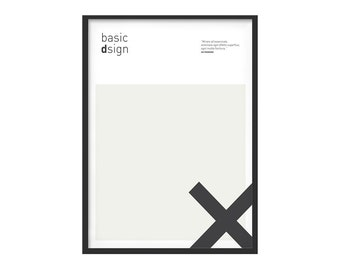 Graphic poster basic design simboli
