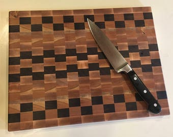Hardwood Cutting Board, End Grain Cutting Board, Walnut Cutting Board, Butcher Block, Chopping Board