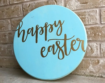 Happy Easter round vinyl STENCIL ONLY