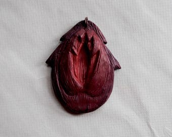 Deep Purple Vulva Necklace