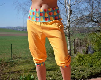 womans joggers,eco friendly yellow sports pants