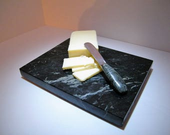 Vermont Marble Cheese Board, Marble Trivet Stone/Snack Board/Stone Trivet