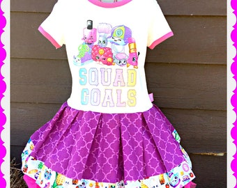 girls shopkins dress Shoppies 7/8 and 10/12 ready to ship