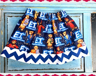 girls E.T Extra terrestrial skirt 2T 3T 4T 5T 4/5 6/6X 7/8 10/12 14/16 ready to ship