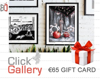 Etsy Gift Card, ClickGallery, Etsy Gift Certificate, Valentine Gift, 65 EURO (Other Amounts Available) Housewarming Gift, Home decor, art