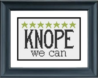 Knope We Can - Parks and Recreation - PDF Cross-Stitch Pattern
