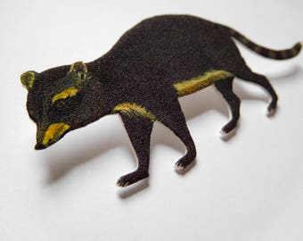 North American Raccoon Tie Tack Pin