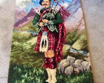 Scottish Highlander Imperial Soldier Wall Rug Weyss Axminster Broadloom