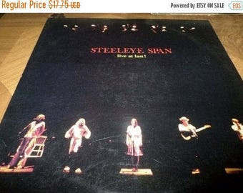 Save 30% Today Vintage 1978 Vinyl LP Record Steeleye Span Live At Last! Excellent Condition