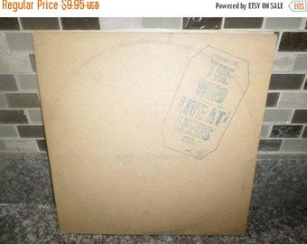 Save 30% Today Vintage 1970 LP Vinyl Record The Who Live at Leeds Very Good Condition MCA Records 5815