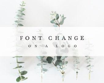 font change on a logo